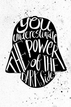 Star Wars Handlettering Quotes - Created by Jiaqi He                                                                                                                                                                                 More