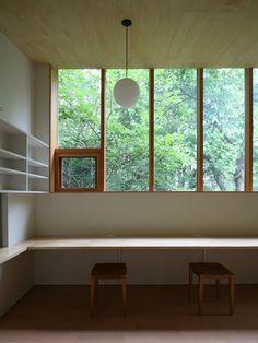 緑の見える書斎