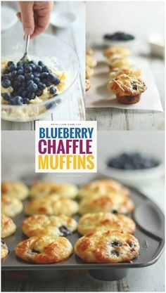 Family Friendly Keto Blueberry Chaffle Muffin Recipe Made with Chaffle Batter! Make Them Ahead for School or Work Lunches Keto Foods, Ketogenic Recipes, Low Carb Recipes, Ketogenic Diet, Free Recipes, Keto Meal, Easy Keto Bread Recipe, Keto Muffin Recipe, Muffin Recipes
