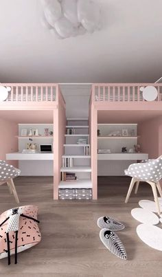 Small Room Design Bedroom, Kids Bedroom Designs, Cute Bedroom Ideas, Room Ideas Bedroom, Home Room Design, Kids Room Design, Bedroom Decor, Modern Kids Bedroom, Modern Teen Room