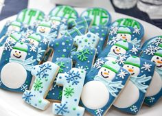 Snowman and Snowflake Cookies. Perfect for a Snow Day.