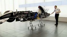 After the Sauber F1 Team mechanics sliced their BMW Sauber F1.08 right down the middle, Chief Designer Matt Morris gives an in-depth anatomy lesson on the inner-workings of a Formula One race car.