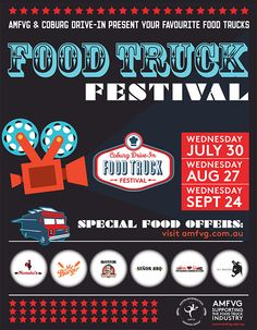 Coburg drive-in food truck festival ~ going to be held once a month from July 2014 * Food Truck Festival, Outdoor Cinema, Festivals, Melbourne, Bbq, Favorite Recipes, Trucks, Kids, Outdoors