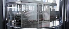 Car lift in Porsche Design Tower in Miami