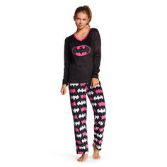 ce92a5bffa013 Women s Batman Cozy Fleece PJ Set   Target Pj Sets