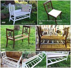 leuk bankje van 2 stoelen