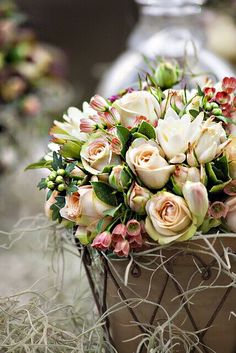 a combination of these flowers would make a gorgeous bridal bouquet. My Flower, Fresh Flowers, Beautiful Flowers, Simply Beautiful, Flower Vases, Spring Flowers, Deco Floral, Arte Floral, Beautiful Flower Arrangements
