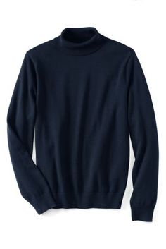 706726bdab Men s Supima Cotton Turtleneck Sweater from Lands  End