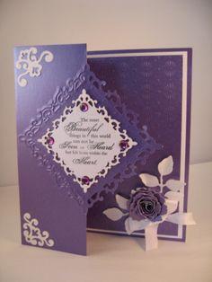 Purple and white - Card Making World