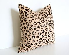 Leopard Print Linen Blend 17 Pillow Cover by AriannaBelle on Etsy, $68.00