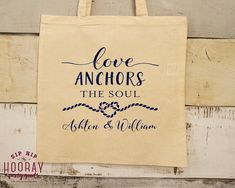 Totes Wedding Favor Totes Nautical Favors Party Favor Bag Favor Bags Bridal Party Tote Bags Canvas Bags Wedding Welcome Bag 1535 by SipHipHooray