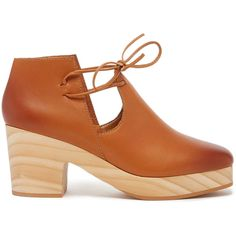 Kelsi Dagger Brooklyn North Platform Bootie ($155) ❤ liked on Polyvore featuring shoes, boots, ankle booties, whiskey, leather booties, platform boots, platform bootie, leather boots and ankle bootie boots