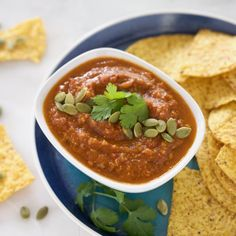 A spicy homemade Roasted Tomato Salsa perfect for a snacking, sharing or a great game day appetizer.