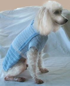Crochet Dog Clothes Pattern - Dog Shirt Crochet Pattern with Bow Tie and Suspenders