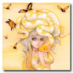 I don't like yellow but I love snakes! Cute!