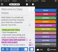 Daily Notes is flexible note-taking app.