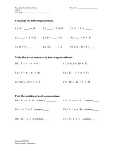 Everyday Math 4th grade Unit 3 Study Guide...