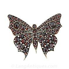Garnet Butterfly Brooch - 50-1-2513 - Lang Antiques