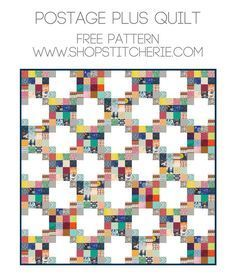 Postage Plus Quilt | Free Pattern at Stitcherie
