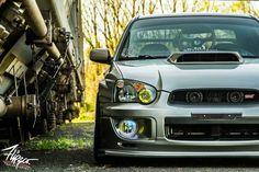 Silver Subaru STI