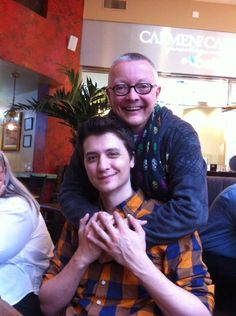 """Chip Coffey (renowned psychic) and  Ryan Buell (founder  the Paranormal Research Society and producer of paranormal investigation reality show """"Paranormal State."""" Raleigh, NC, Oct. 2013"""