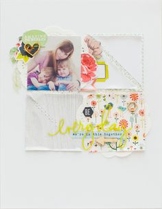 #Papercraft #Scrapbook #Layout.  everyday amazing by 3littleks at @studio_calico