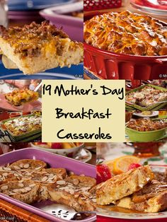 Make Mom smile with a homemade brunch... from you! These 19 easy breakfast casserole recipes are sure to start the day off right.
