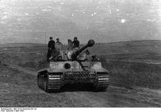 Tiger I heavy tank of the German 2nd SS Panzer Division 'Das Reich' at Kharkov, Ukraine, Apr 1943, (Photographer Gutscher, German Federal Archive)