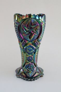 Vintage Smith Carnival Glass Vase