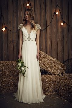 The Sheba Gown in Ivory | The Jenny Packham 2017 Bridal Collection | see them all on www.onefabday.com