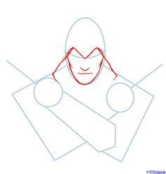 how to draw ezio, assassins creed, ezio step 2