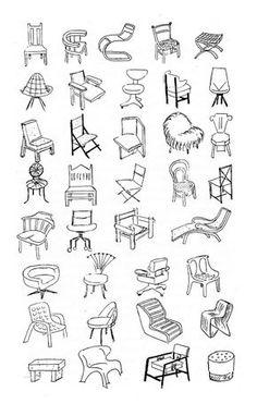Queste non sono tutte, Bruno Munari da Arte come mestiere, Edizioni Laterza, 1966. Product Development Process, Drawing Furniture, Perspective Drawing, Nature Drawing, Designs To Draw, Line Art, Art Drawings, Arts And Crafts, Sketches