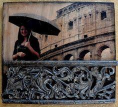 theartgirljackie-tutorials: Embellished Photo Transfer on Wood