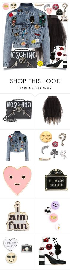"""pins"" by teto000 ❤ liked on Polyvore featuring Moschino, Melissa McCarthy Seven7, Alice + Olivia, Marc Jacobs, ban.do, Chanel, Design Lab, GEDEBE, Ana Accessories and pins"