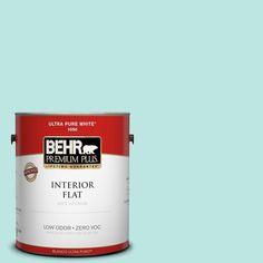 BEHR Premium Plus 1-gal. #490A-2 Cool Jazz Zero VOC Flat Interior Paint