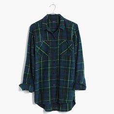Flannel Ex-Boyfriend Shirt in Ontario Plaid : shirts & tops | Madewell