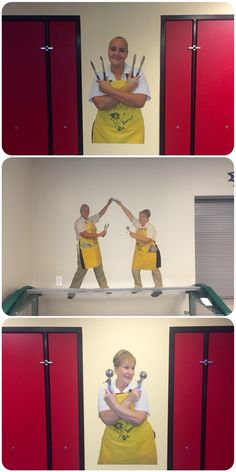 Giant-sized decals of the lunch ladies of Webb School adorn their cafeteria walls! What a great way to elevate the staff!