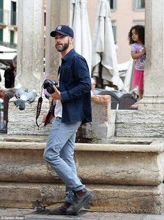 Laid-back: Keeping a low profile in his casual ensemble, the Star Trek star wore a dark de...