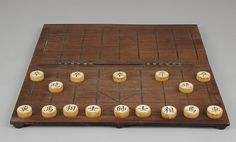 Chessmen (30) and board and box | Chinese | The Met (18th–19th century, ivory, wood)