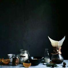 Still life. Food photography. Dark mood.