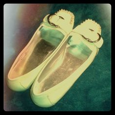 Cream flats Very Lightly worn, but still very clean and strong. I'm selling them simply to reduce my shoe closet Jessica Simpson Shoes Flats & Loafers