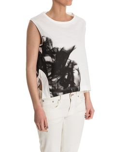 Y-3 Yamamoto - t-shirt with abstract faded printed pattern - ZO ET LO EASY SHOPPING WORLDWIDE EXPRESS SHIPPING