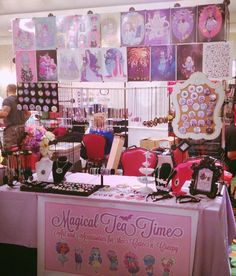 artist alley booth display -- Magical Tea Time