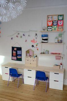 15 ideas para hacer un escritorio infantil Study Room Design, Girls Bedroom, Kids Decor, Home Decor, Living Room Modern, Kids Furniture, Room Inspiration, Playroom, Kids Room