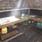 Learning for Life: Outdoor Play Party - the mud kitchen is a year old! Outdoor Art, Outdoor Play, Mud Kitchen, Kitchen Ideas, Learning For Life, Play Spaces, Environment, Party, Classroom