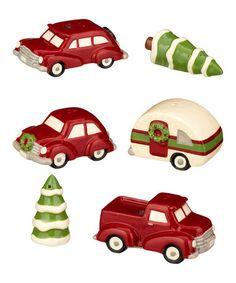 Loving this Holiday Travel Magnet Salt & Pepper Shakers - Set of Three Pairs on #zulily! #zulilyfinds