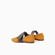 ZARA - KIDS - LEATHER BALLET FLATS WITH BOW