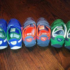 Puma + J.Crew = perfect shoes for triplet boys!
