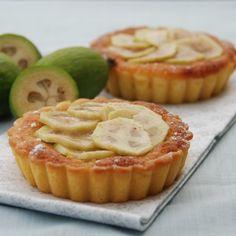 Recipe other : Feijoa frangipane tart by Peasepudding Fejoa Recipes, Guava Recipes, Fruit Recipes, Baking Recipes, Dessert Recipes, Baking Ideas, Dessert Ideas, Recipies, Mini Desserts