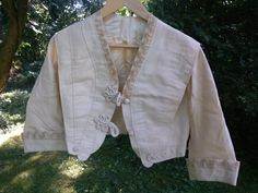 Edwardian Style Ladies Jacket Handsewn 1970s. 1910 Pattern.